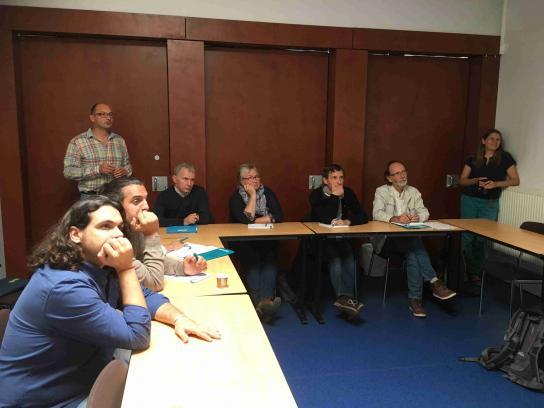 Presentation d'une recherche action avec la MFR de Fougères et l'EPL de Caulnes en barcamp