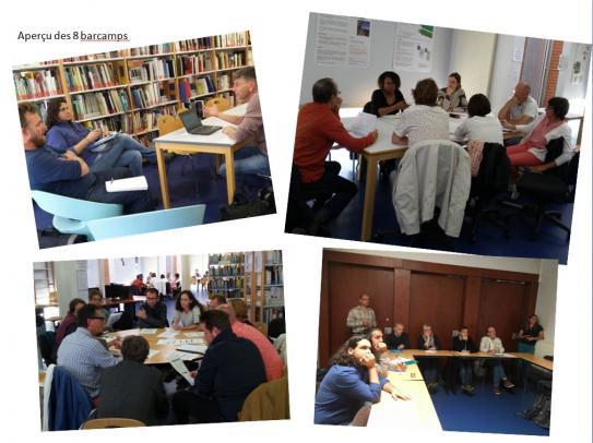 Apperçu des 8 Barcamps